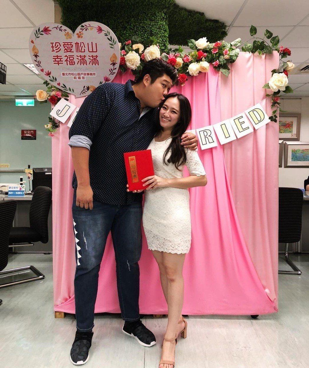 哈孝遠上個月與瑄瑄登記結婚。圖/摘自IG