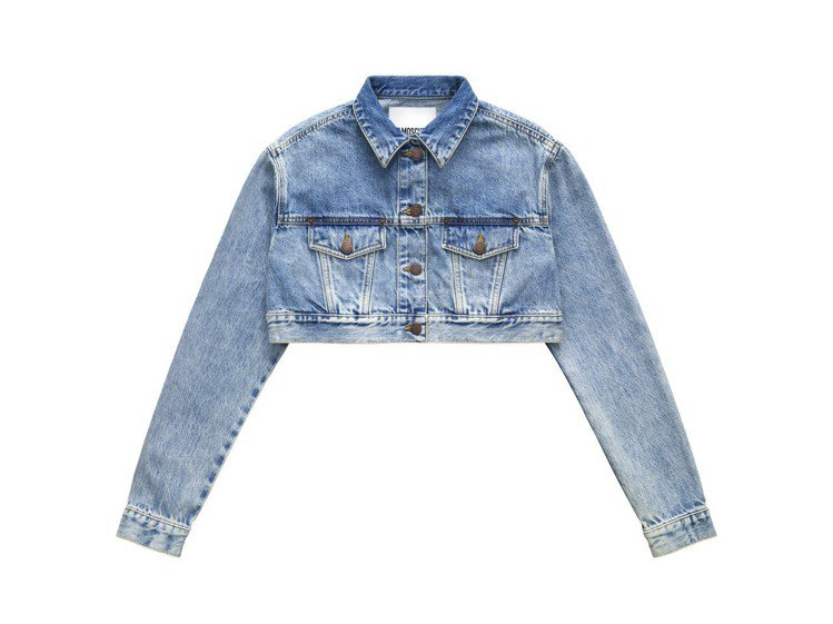 Moschino[TV] H&M系列女裝短版牛仔外套,5,999元。圖/H&M提...