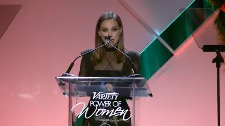 娜塔莉波曼出席綜藝報舉辦的女性論壇。圖/翻攝自Variety Twitter