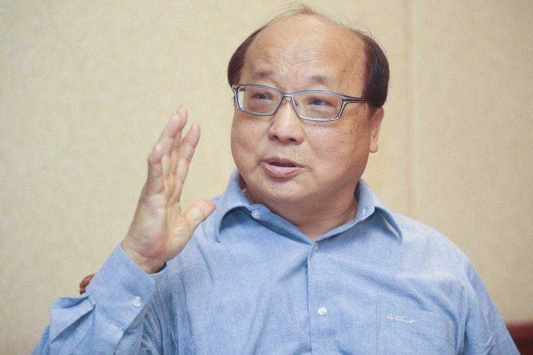 台中市前市長胡志強常拿自己禿頭來開玩笑,一度搞笑玩倒立,自嘲要靠倒立來「刺激」頭...