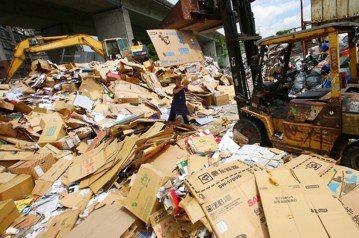 洋垃圾進口,是否會惡化本地回收系統? 圖/聯合報系資料照