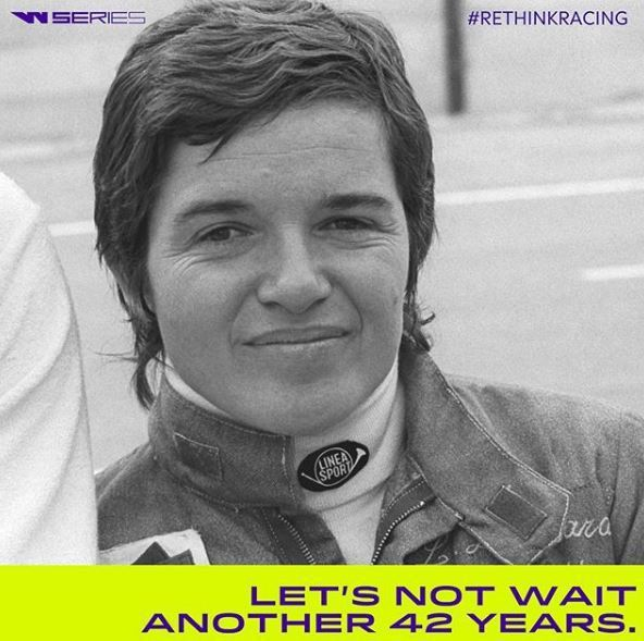 自1975年的Lella Lombardi,就沒有女性車手能參與完整F1賽季。 摘自W Series