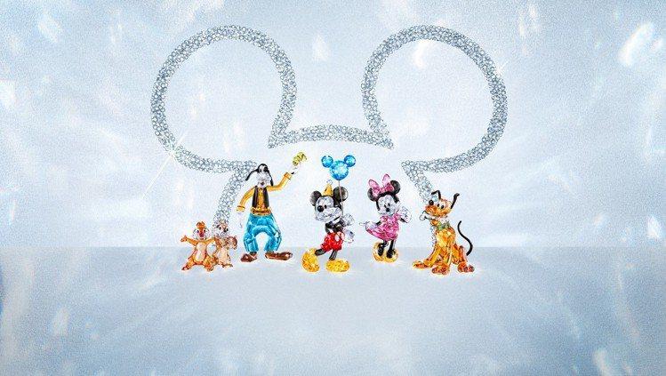 Swarovski 推出迪士尼米奇老鼠 90周年系列。圖/施華洛世奇提供