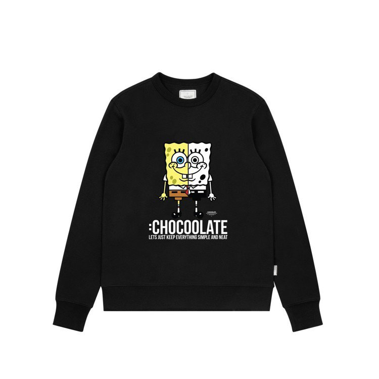 :Chocoolate與海綿寶寶合作系列圓領上衣,1,999元。圖/I.T.提供