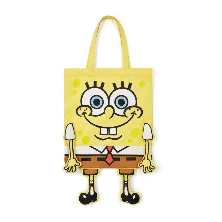 :Chocoolate與海綿寶寶合作系列購物袋,1,359元。圖/I.T.提供