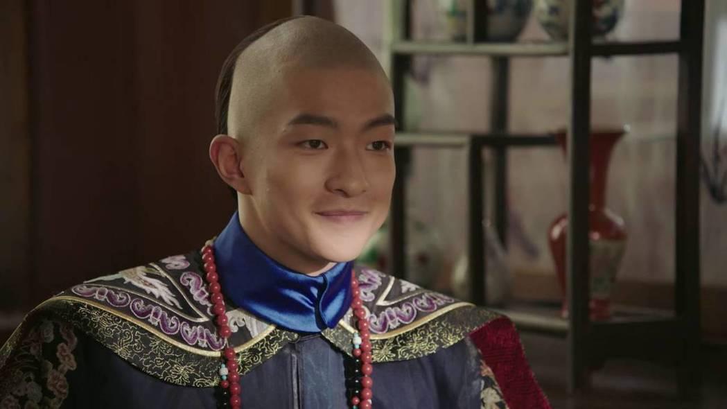 「如懿傳」中的五阿哥永琪由屈楚蕭飾演。圖/截圖自愛奇藝台灣站