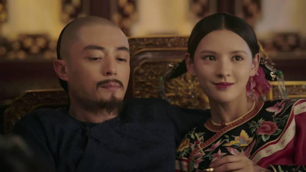 霍建華劇中沉迷青樓女子,「如懿」終於氣到斷髮。圖/截圖自愛奇藝台灣站