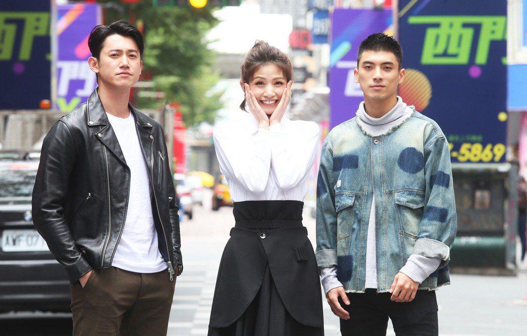 「狂徒」吳慷仁(左)、李千娜(中)、林哲熹(右)專訪。記者徐兆玄/攝影