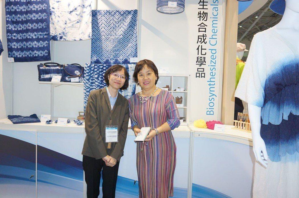 工研院材化所組長唐靜雯(右)、主任張珮菁(左)合影。 金萊萊/攝影