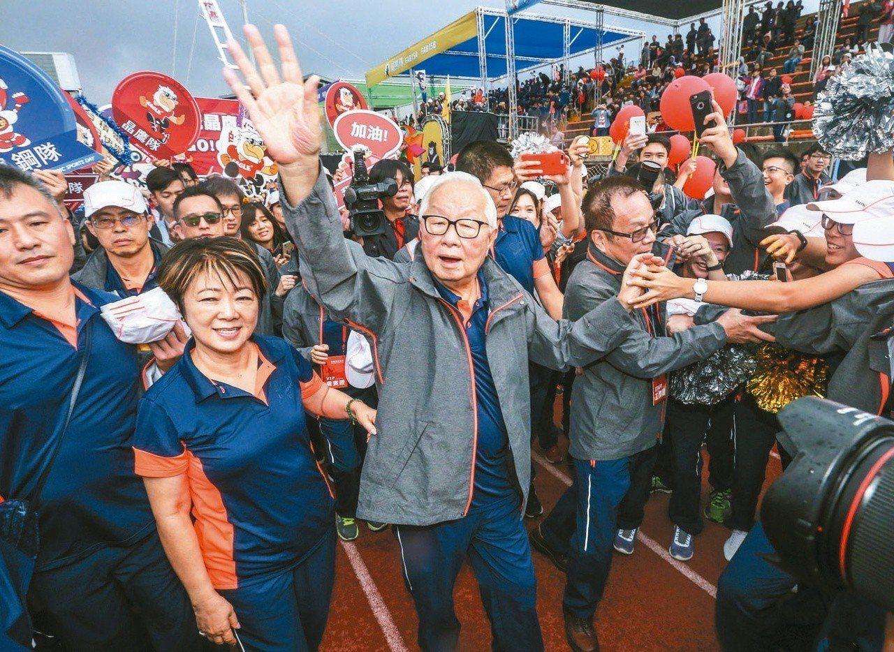 去年台積電運動會,張忠謀最後一次以董事長身分參加運動會。圖/聯合報系資料照片