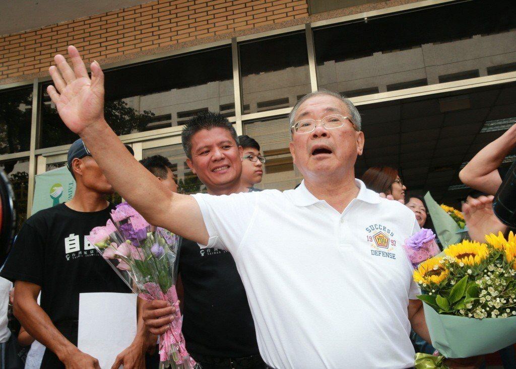 圖為含冤三十二年的蘇炳坤。 圖/聯合報系資料照