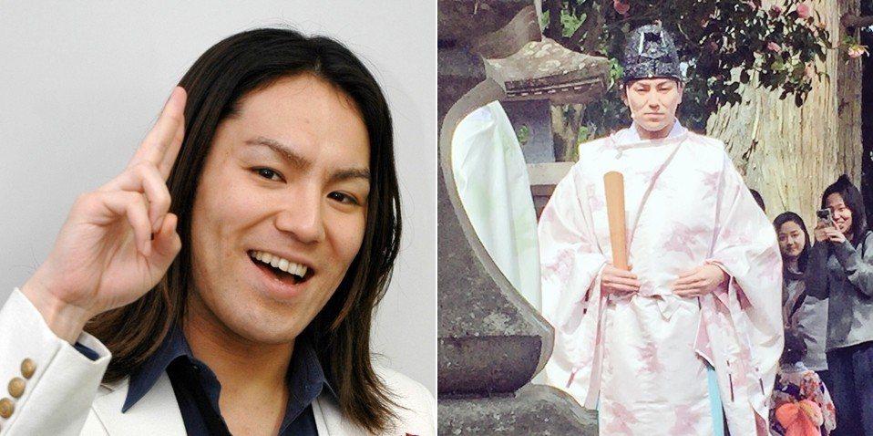 日本藝人狩野英孝(左圖)的老家就是宮城縣有名的櫻田山神社,後來狩野也真的拿到了初...