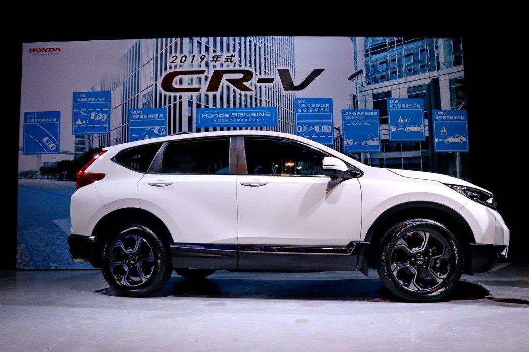 Honda CR-V全面標配Honda SENSING。 圖/台灣本田提供