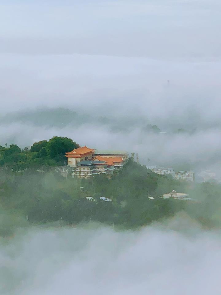 早上7點在圳北步道出現的美景。圖/張登焜提供