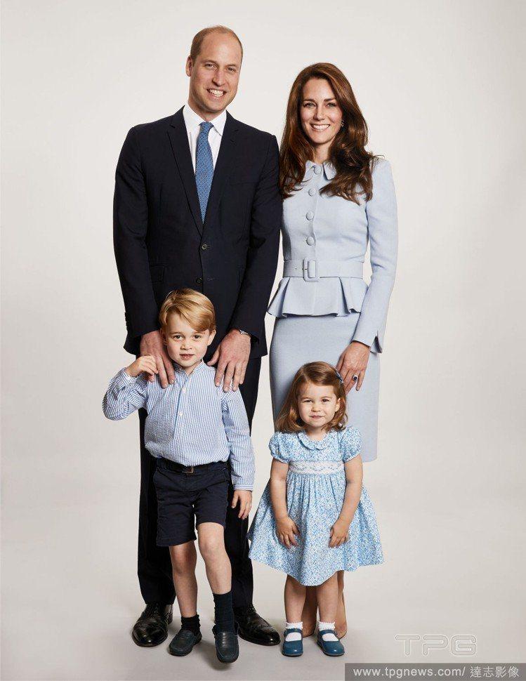 威廉與凱特一家人都受到關注。圖/達志影像
