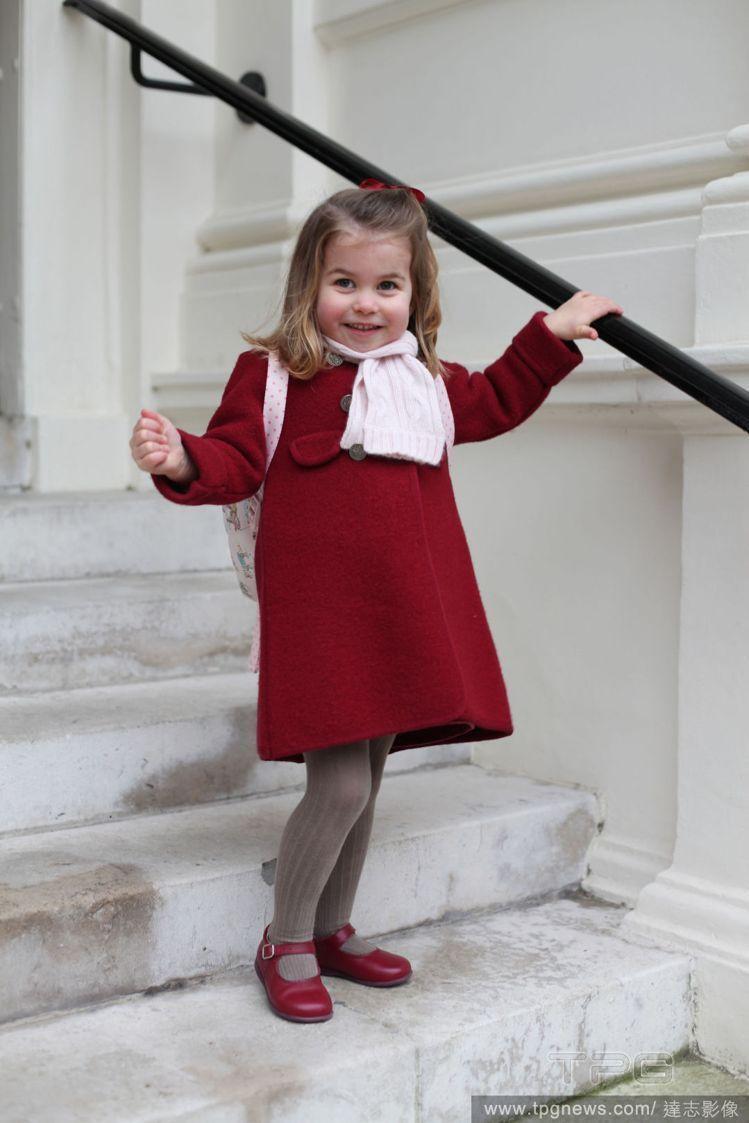 夏綠蒂公主第一天上學照。圖/達志影像