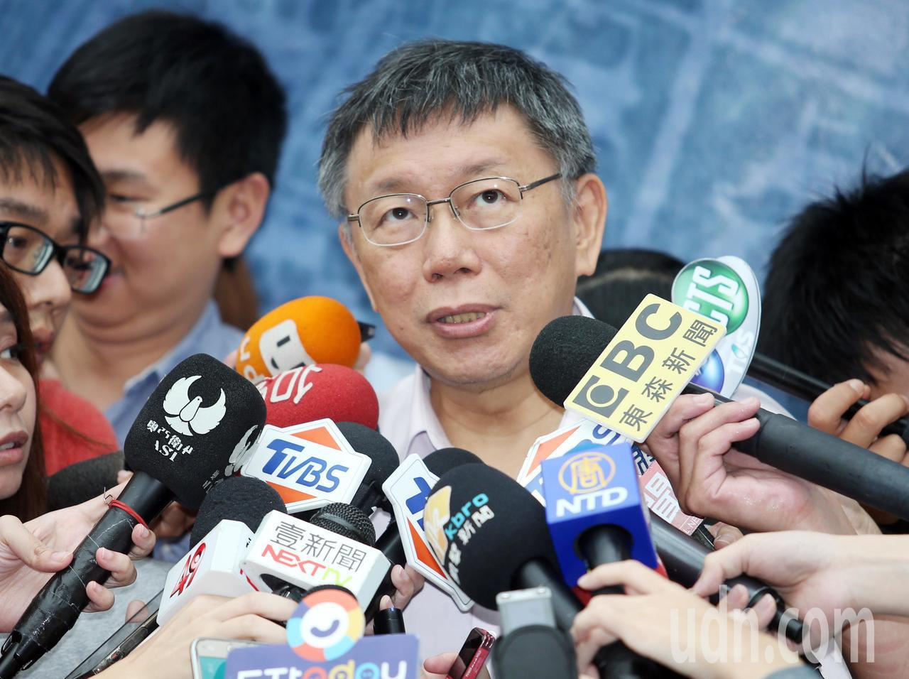 台北市長柯文哲。 聯合報系資料照/記者杜建重攝影