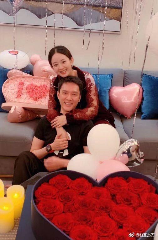 趙麗穎日前與馮紹峰舉辦生日派對的私照曝光。圖/摘自優酷娛樂微博