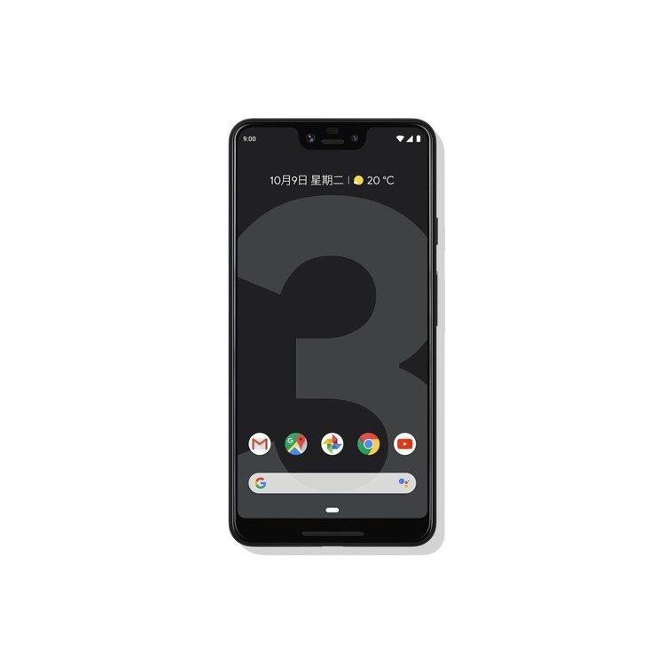 Google Pixel 3 XL為有瀏海的6.3吋滿版螢幕設計,單機價31,1...