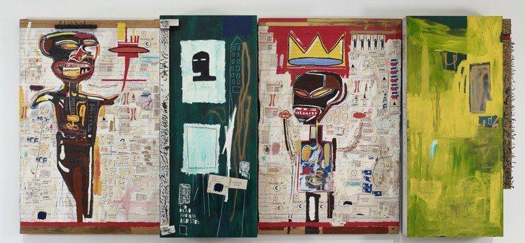 尚.米榭.巴斯奇亞的120幅作品分為4層樓展出。圖/LV提供