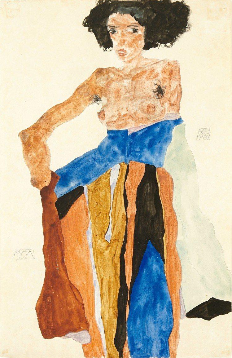 來自倫敦私人藏品的埃貢席勒1911年作品MOA。圖/LV提供