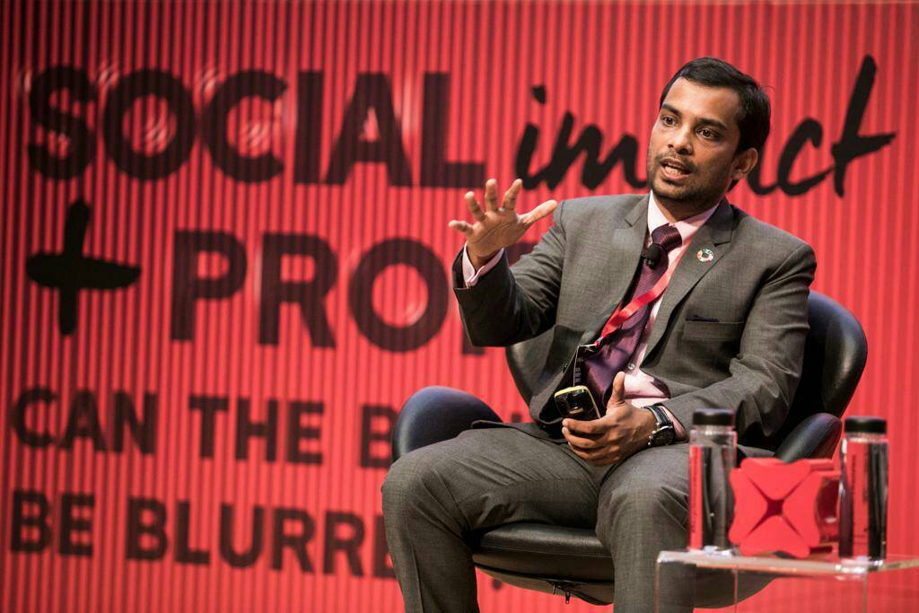印度創業家Ankit Agarwal今天出席星展基金會(DBS Foundati...
