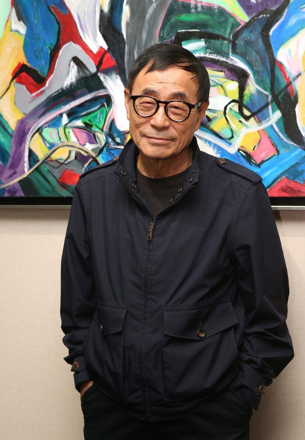 劉家昌表達自己對政治的看法。記者林澔一/攝影