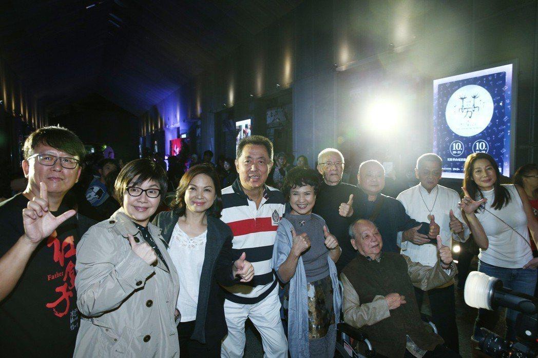 導演楊力州(左起)、歌仔戲巨星唐美雲、影后楊貴媚、電影導演朱延平、歌仔戲巨星王金...