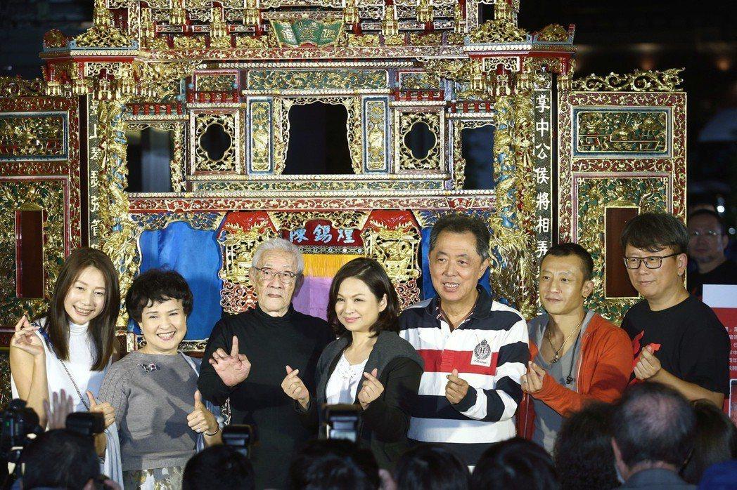 導演楊力州(右起)、電影導演楊雅喆、電影導演朱延平、影后楊貴媚、布袋戲大師陳錫煌...