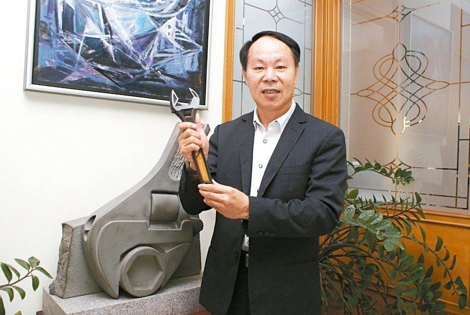 伯鑫工具總經理吳傳福。 吳青常/攝影