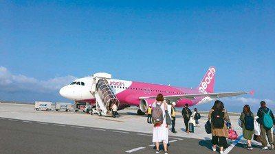 小港機場昨關閉,造成兩架樂桃航空原機飛回日本。 報系資料照
