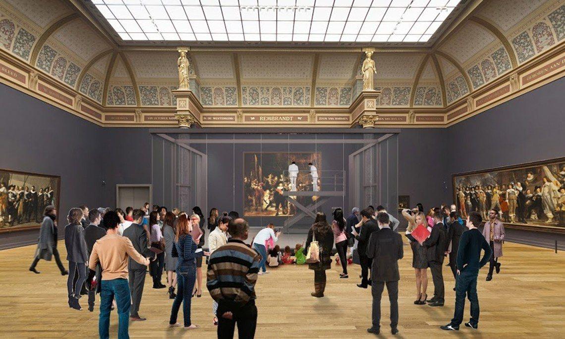 修復過程的3D模擬示意圖。 圖/阿姆斯特丹國家博物館
