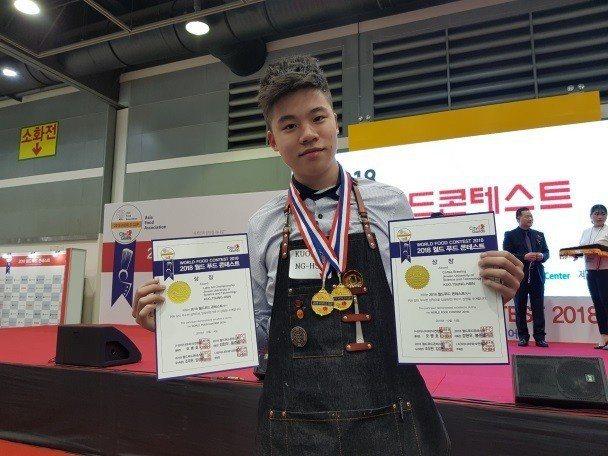景文科大學生 郭宗鑫 榮獲咖啡拉花金牌、手沖咖啡金牌雙金榮耀。