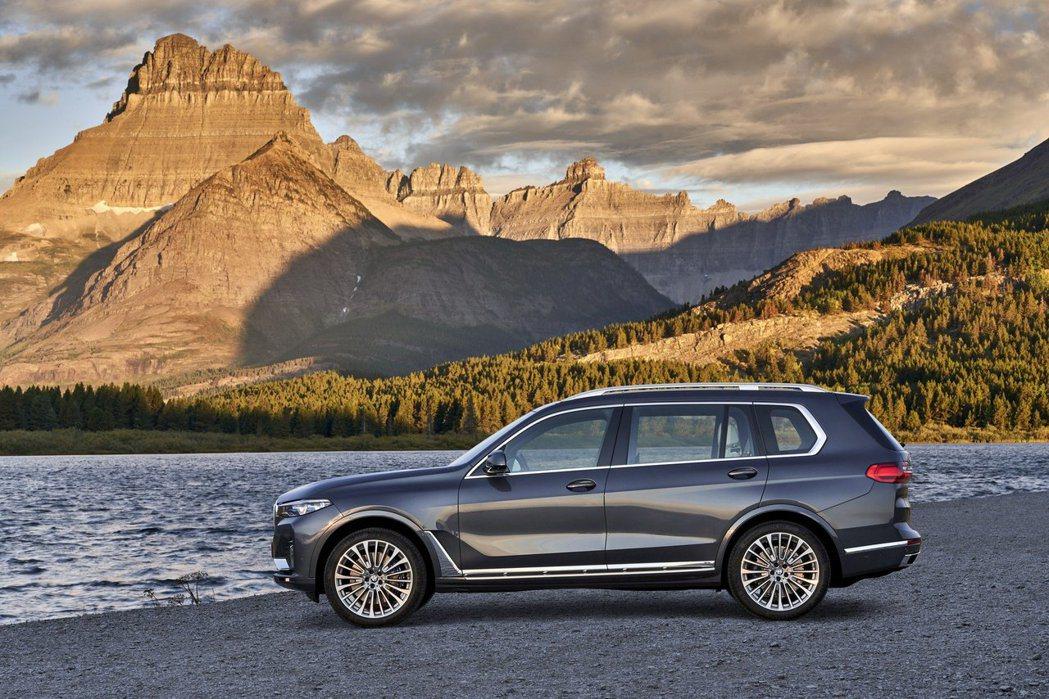 全新BMW X7車長超過五米,就連軸距也超過三米。 摘自BMW