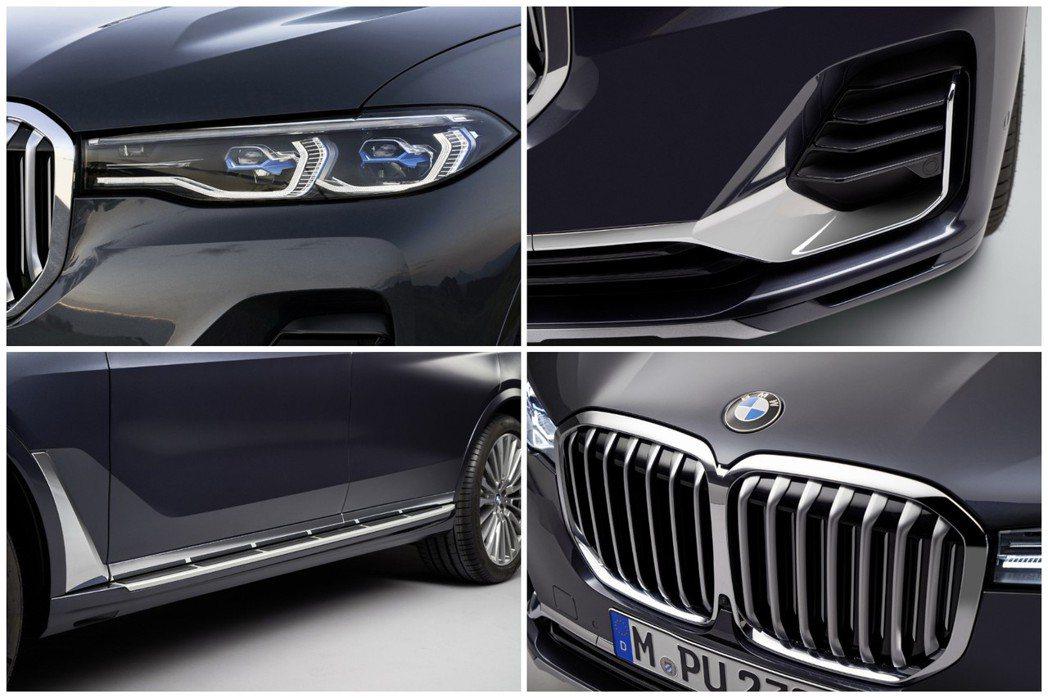 全新BMW X7的水箱護罩是歷年來BMW車系中最大的一次。 摘自BMW