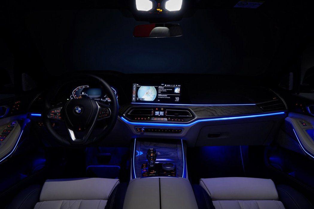 全新BMW X7車室氣氛燈。 摘自BMW