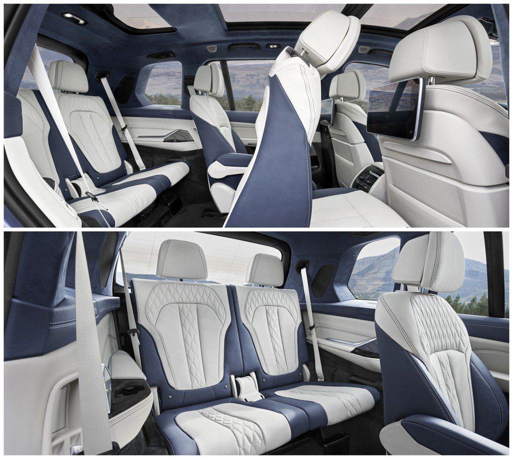 全新BMW X7為一輛三排、六人/七人座的車型。 摘自BMW