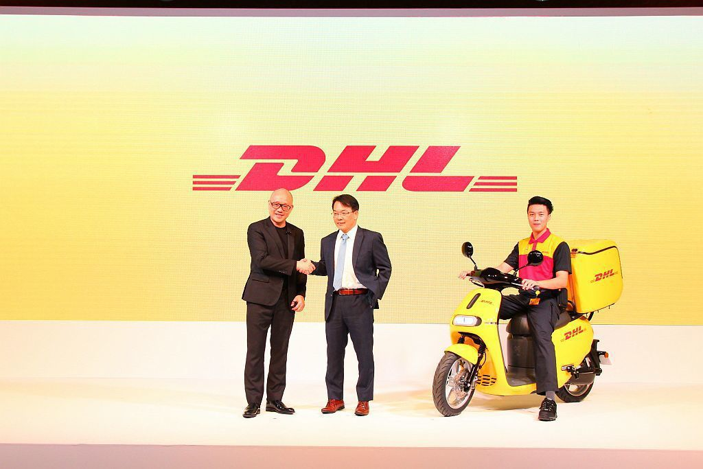 DHL國際快遞台灣總經理黃湧君表示:「創造永續環境及減低碳排放,是DHL最重要的使命,也是我們企業的核心政策之一。 記者張振群/攝影