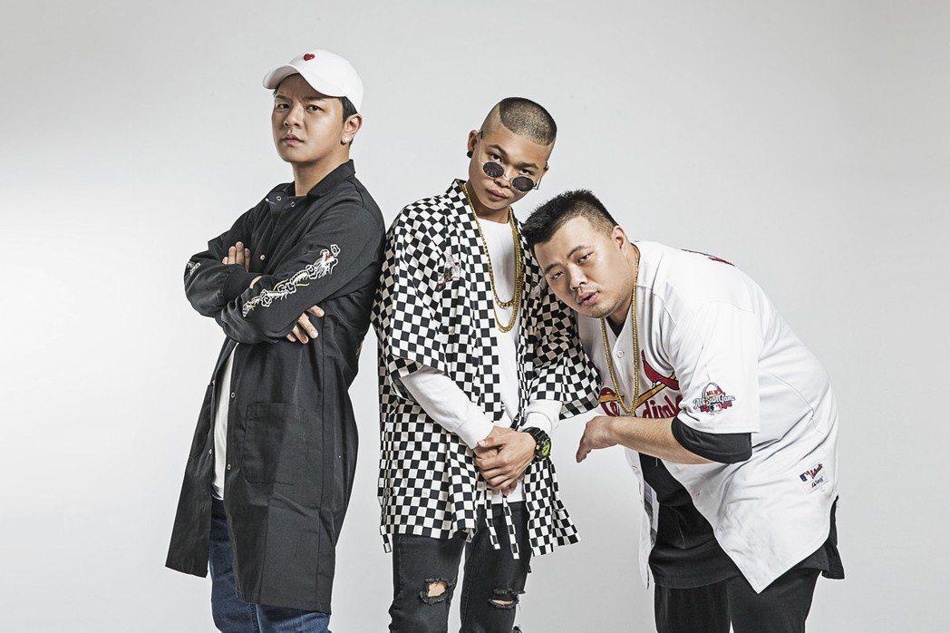「東區不倒翁」由小中(左起)、Gary、青木組成。圖/尬音樂提供