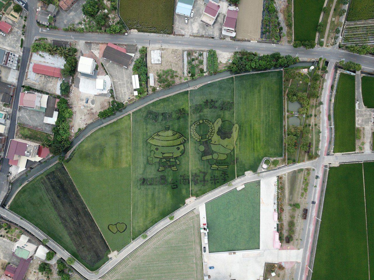 彩繪稻田美景又來了,周六起在台南後壁熱鬧展開。圖/台南市政府農業局提供