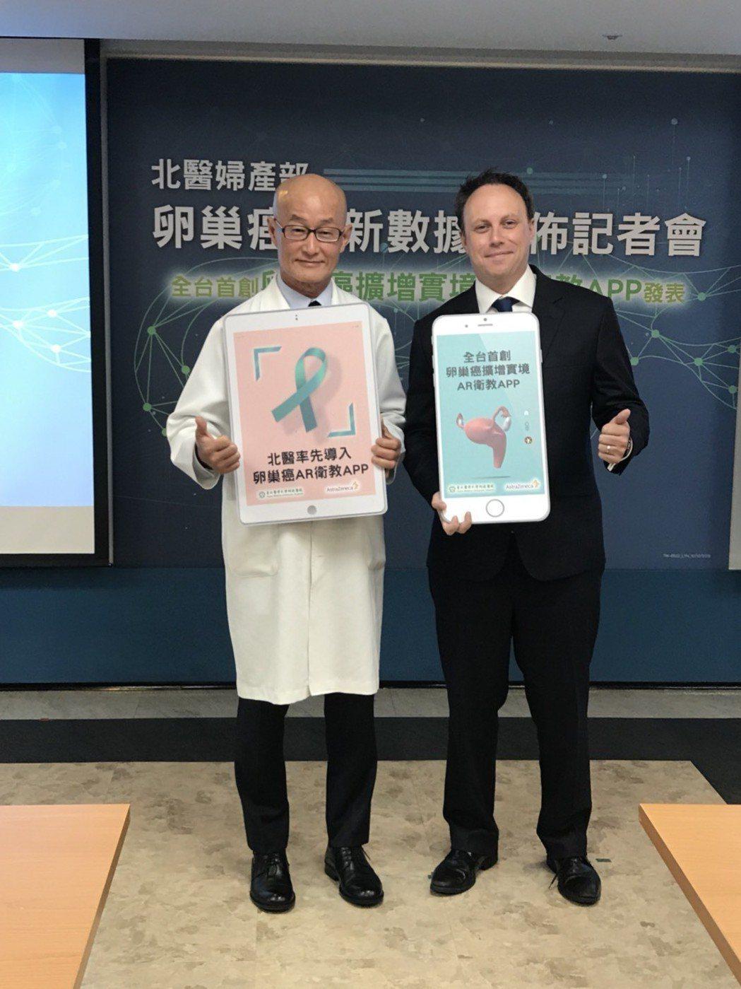 北醫與AstraZeneca合作推出「卵巢癌擴增實境APP」並應用於診間與民眾衛...