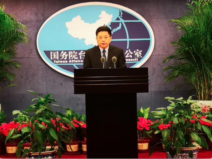 国台办发言人马晓光称,蔡英文总统双十讲话充斥着「两国论」的分裂谬论和针对大陆的对抗思维。金亚洲记者赖锦宏/摄影