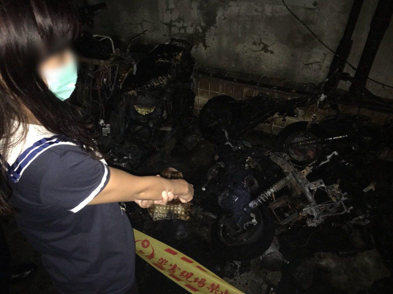 女子黃瓊慧和女兒借錢不成,心情不好縱火燒毀機車。本報資料照片,記者陳雕文/翻攝