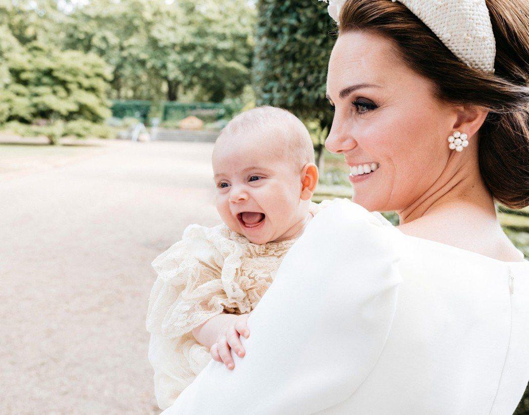 凱特的最小兒子路易王子,今年4月下旬出生。圖/路透資料照片