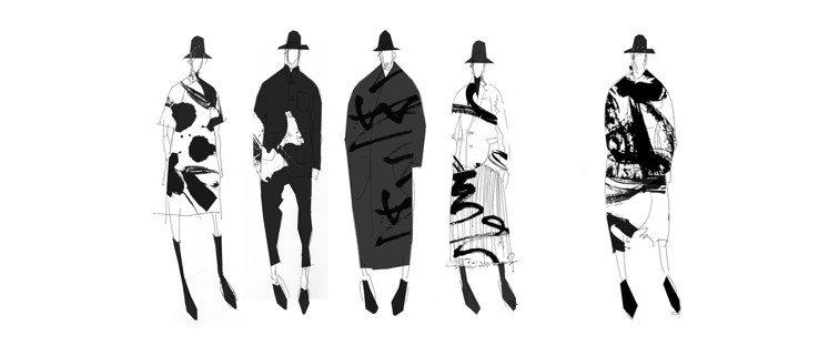 「讀衣III」時尚藝術跨界展-設計師李迎軍手稿。圖/團團提供