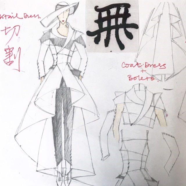 「讀衣III」時尚藝術跨界展-設計師潘貝寧手稿。圖/團團提供