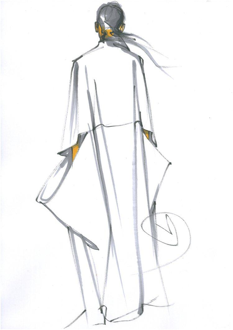 「讀衣III」時尚藝術跨界展-設計師鄒游手稿。圖/團團提供