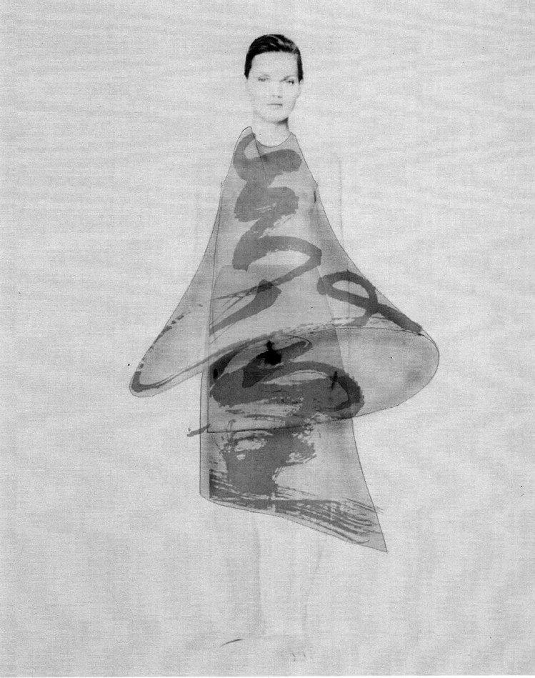 「讀衣III」時尚藝術跨界展-設計師陳劭彥手稿。圖/團團提供