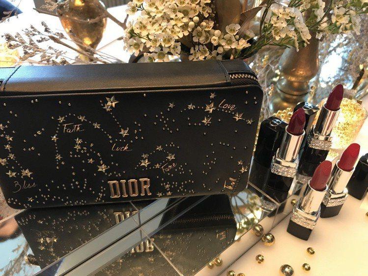 2018限量版藍星唇膏幸運星願珠寶盒與藍星唇膏幸運星限量版。圖/記者江佩君攝影