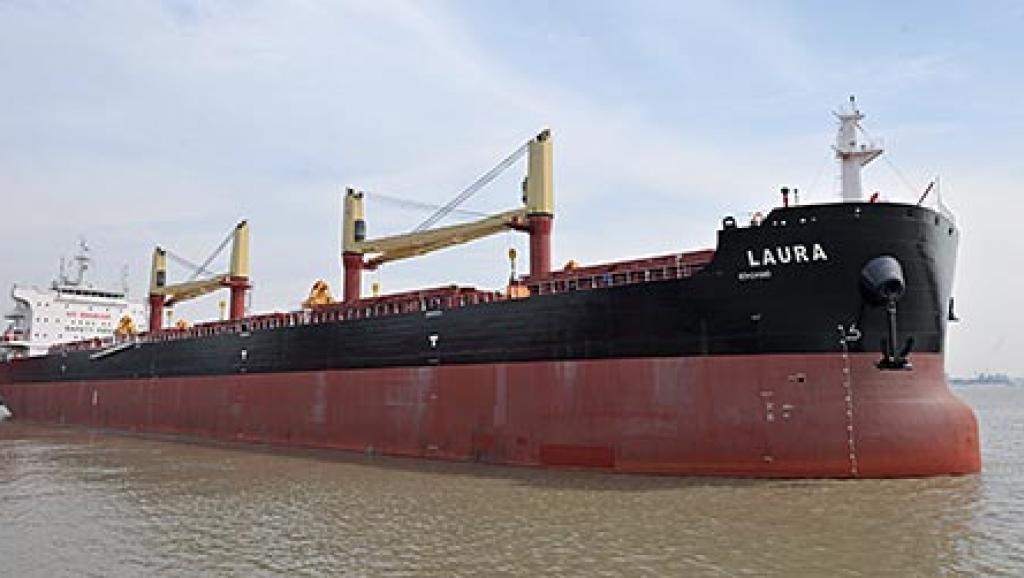 疑似勞拉星號貨船。 圖/取自網路